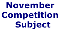 November Competition    Subject